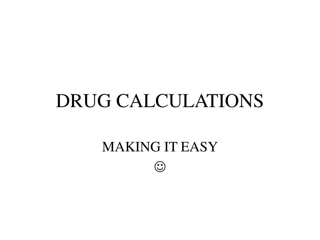 drug calculations l.
