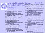 level 3 nvq diploma in pharmacy service skills qcf draft