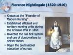 florence nightingale 1820 1910