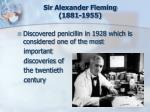 sir alexander fleming 1881 1955