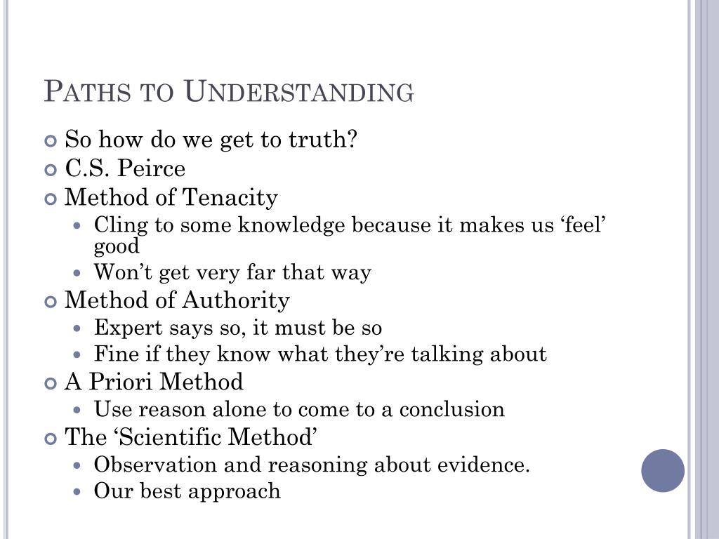 Paths to Understanding