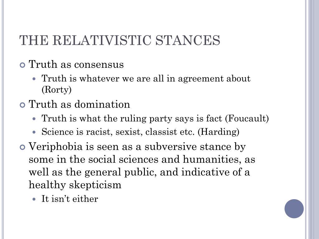THE RELATIVISTIC STANCES