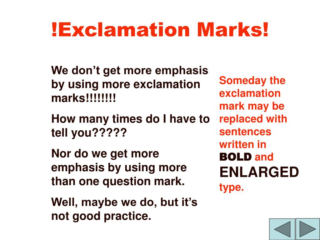 !Exclamation Marks!