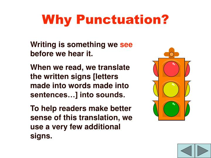 Why punctuation