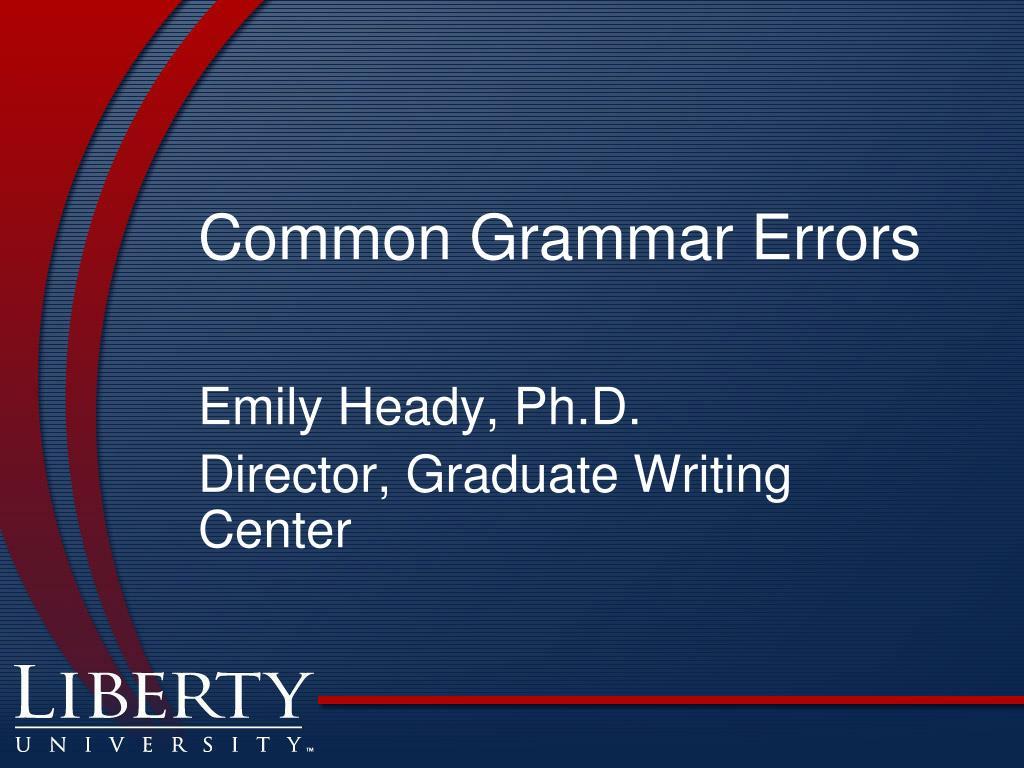 common grammar errors l.