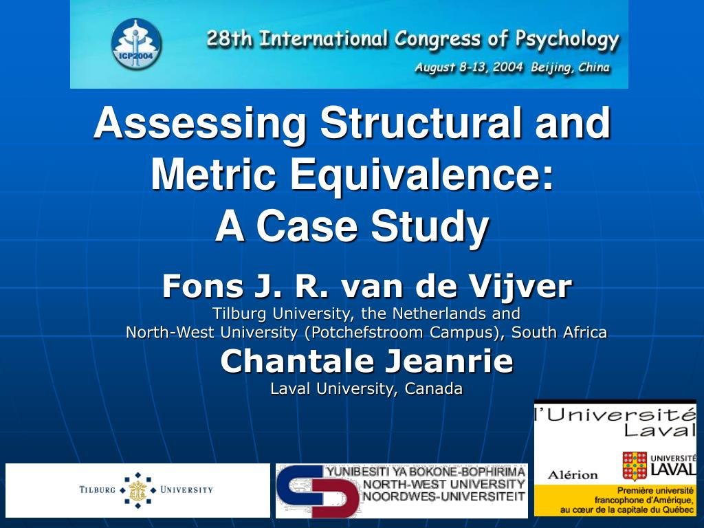 assessing structural and metric equivalence a case study l.