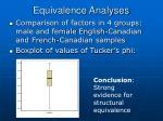 equivalence analyses