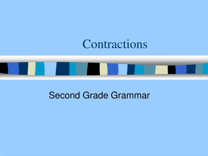contractions n.
