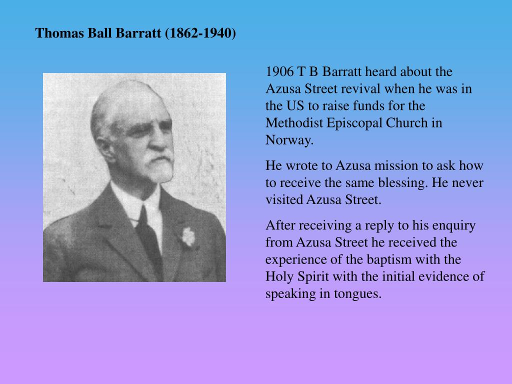 Thomas Ball Barratt (1862-1940)