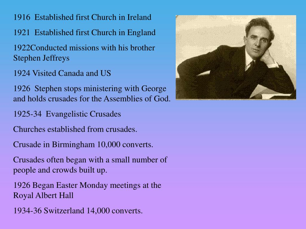 1916  Established first Church in Ireland