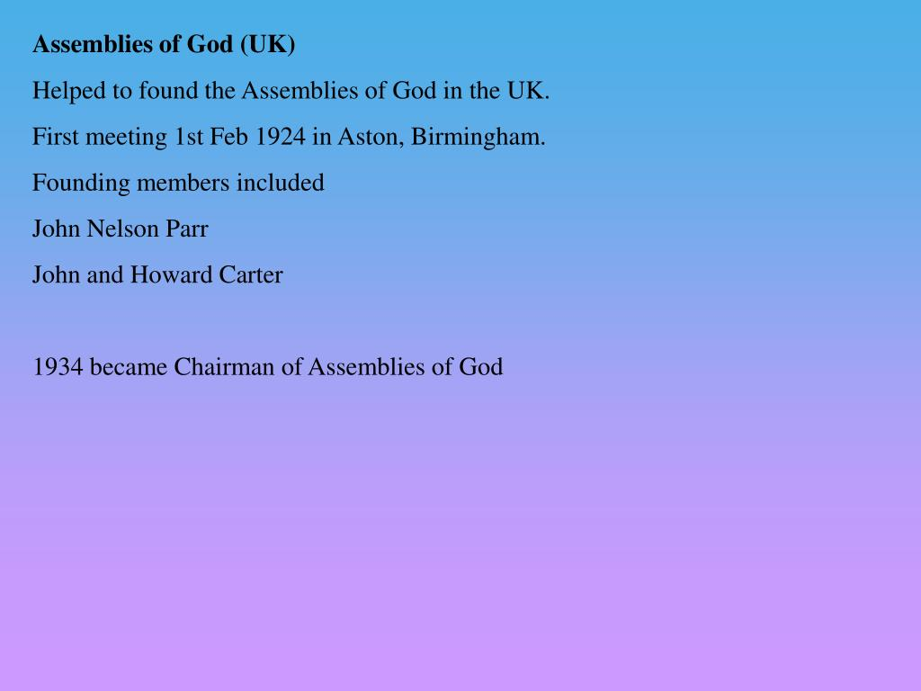 Assemblies of God (UK)