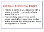carthage s commercial empire
