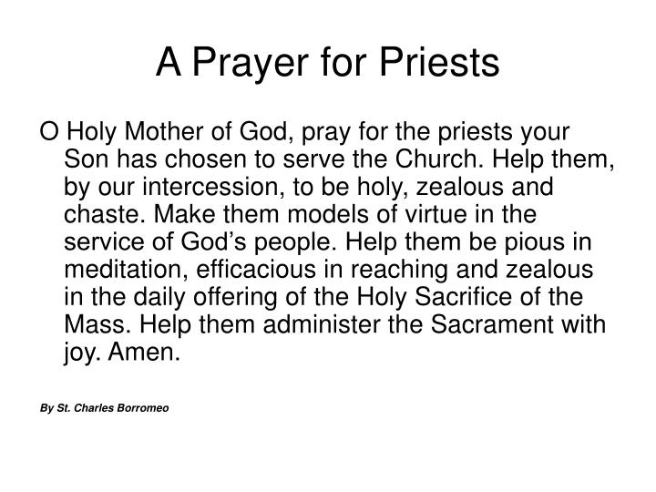 A Prayer for Priests