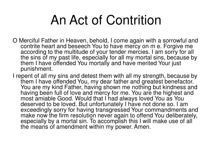 An Act of Contrition