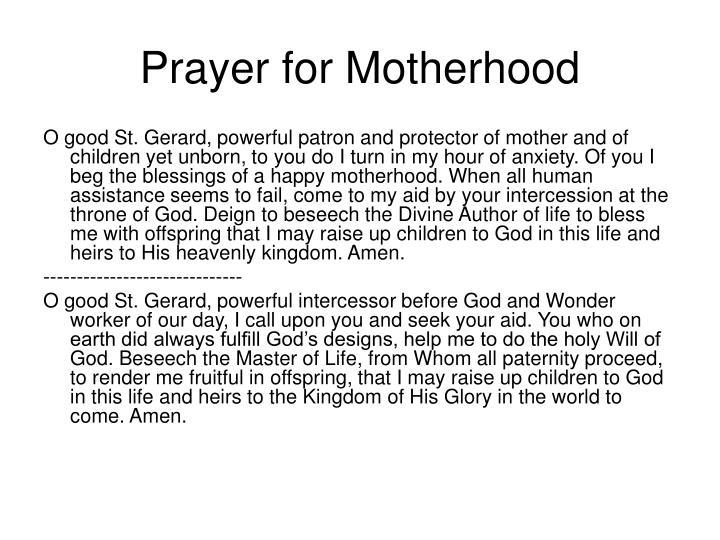 Prayer for Motherhood