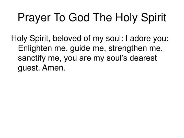 Prayer To God The Holy Spirit