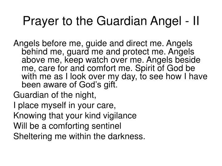 Prayer to the Guardian Angel - II