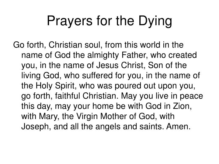 Prayers for the Dying