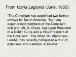 from maria legionis june 1953