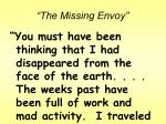the missing envoy