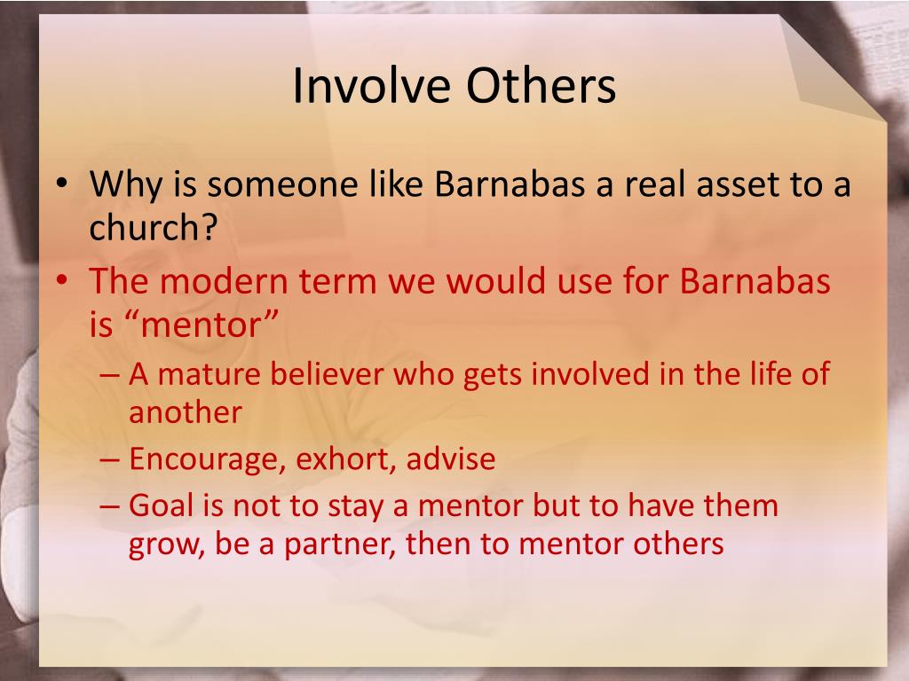 Involve Others