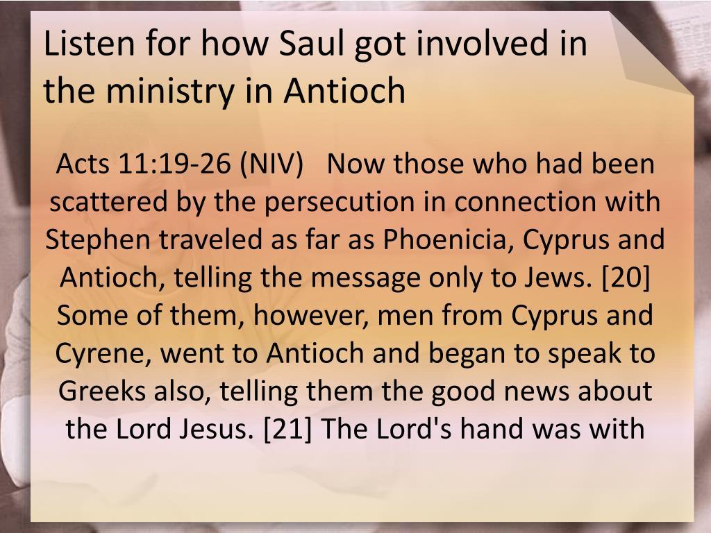 Listen for how Saul got involved in