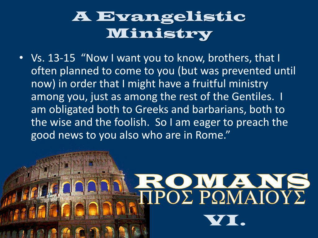 A Evangelistic Ministry