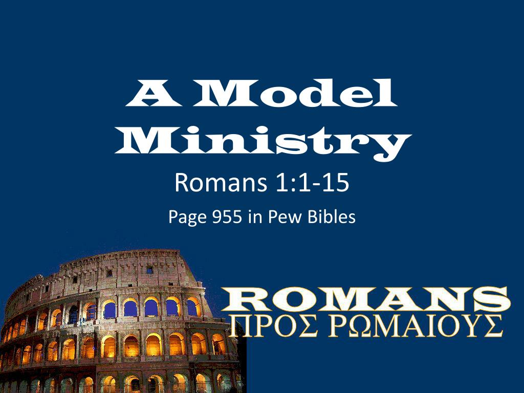 A Model Ministry