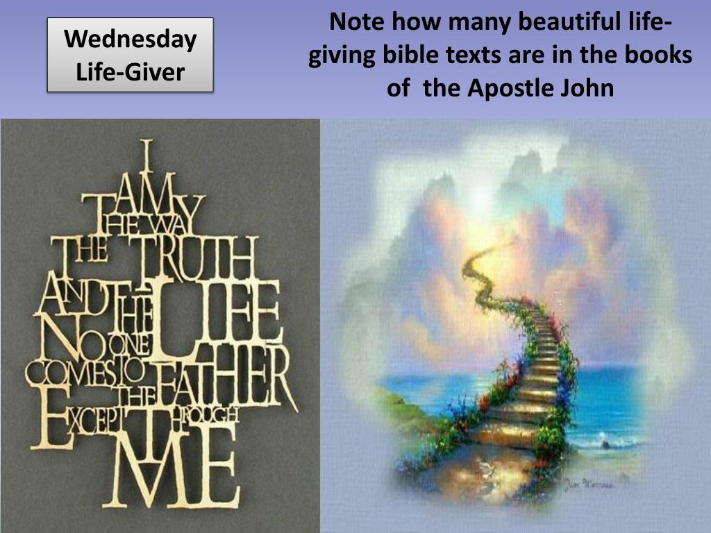 Note how many beautiful life-giving bible texts are in the books of  the Apostle John