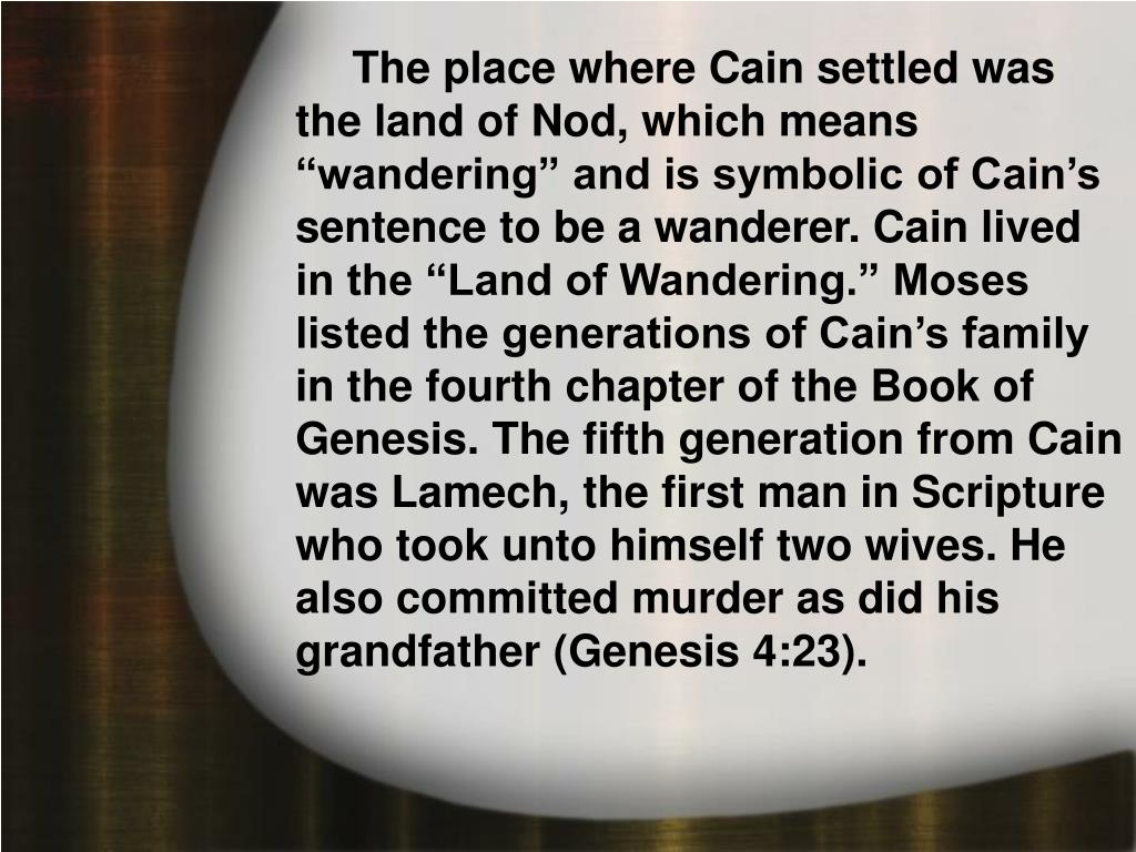 A. Generations of Cain