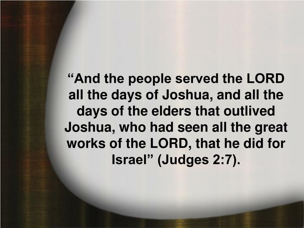 Judges 2:7