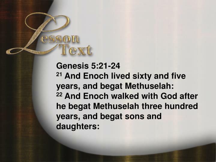 Lesson text genesis 5 21 24