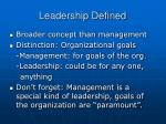 leadership defined