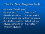 the flip side negative traits