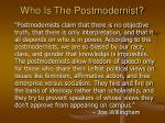 who is the postmodernist