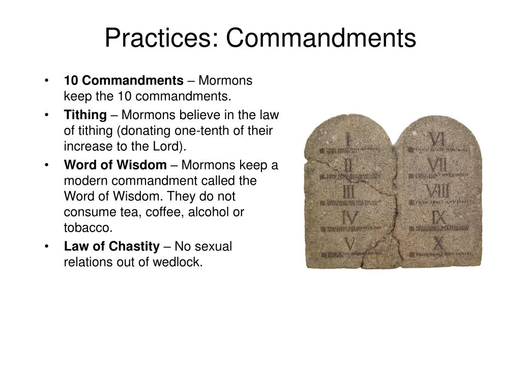 Practices: Commandments