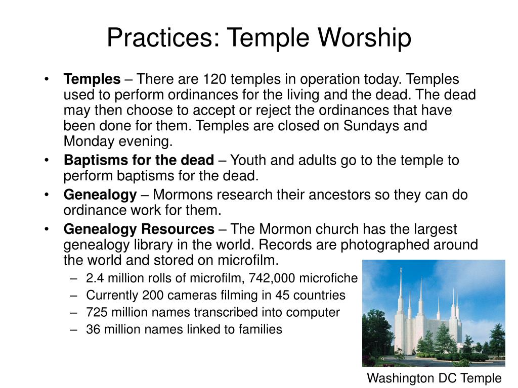 Practices: Temple Worship