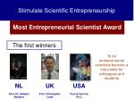 stimulate scientific entrepreneurship