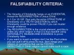falsifiability criteria