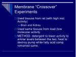membrane crossover experiments