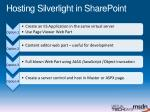 hosting silverlight in sharepoint