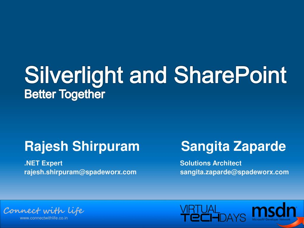 silverlight and sharepoint better together l.