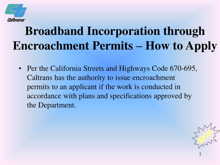 Broadband Incorporation through