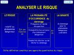 analyser le risque
