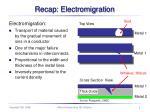 recap electromigration
