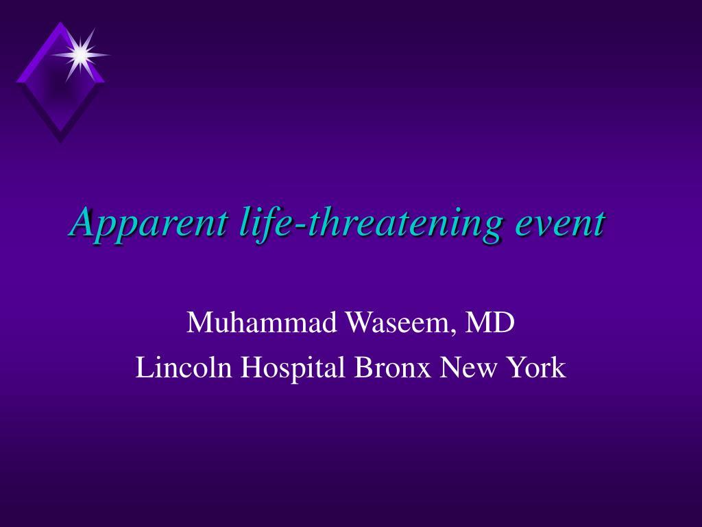 apparent life threatening event l.