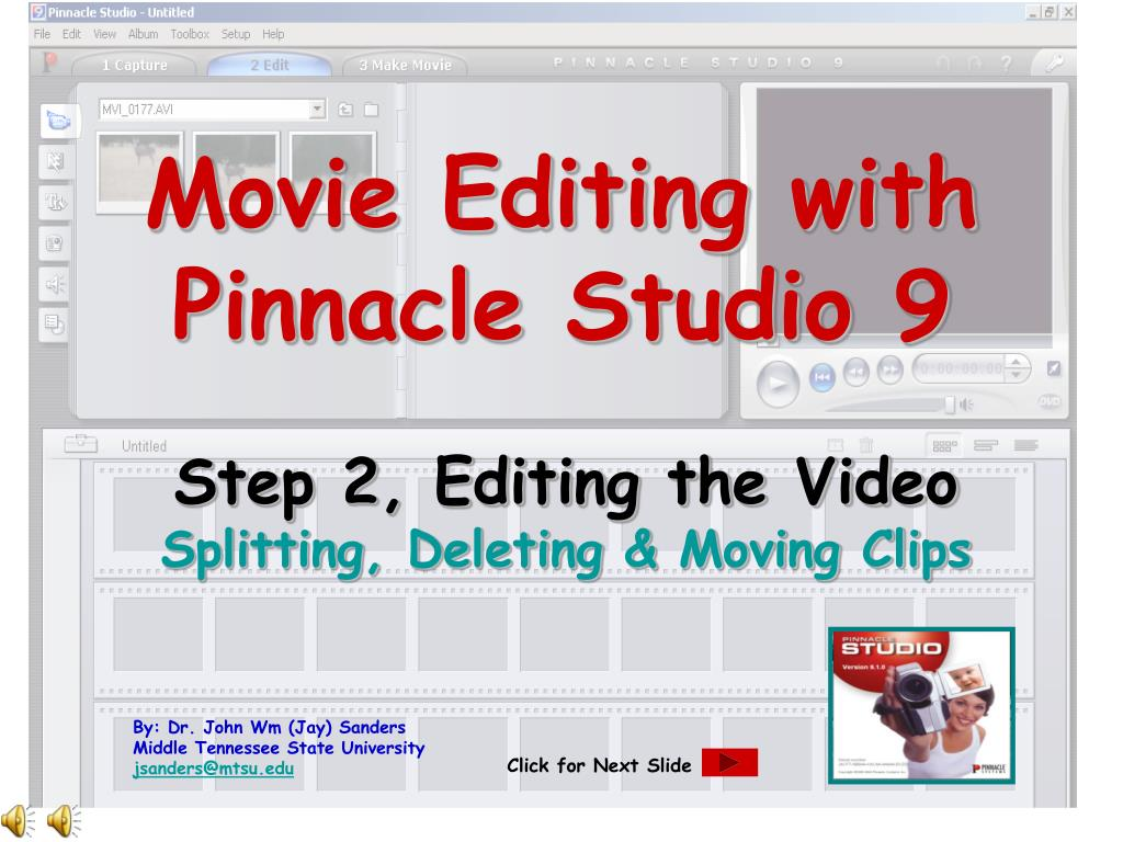 movie editing with pinnacle studio 9 l.