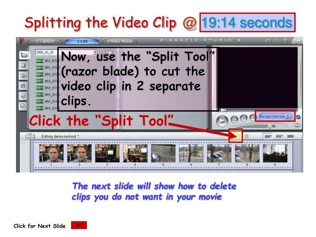 Splitting the Video Clip