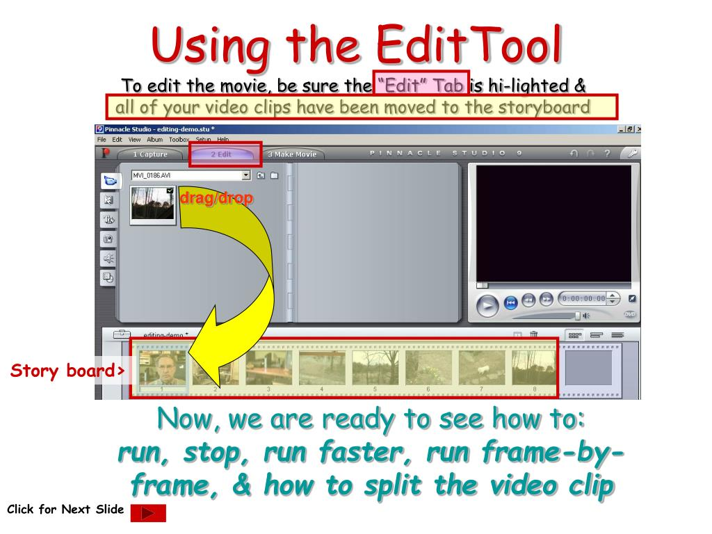 Using the EditTool