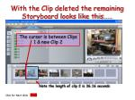 with the clip deleted the remaining storyboard looks like this